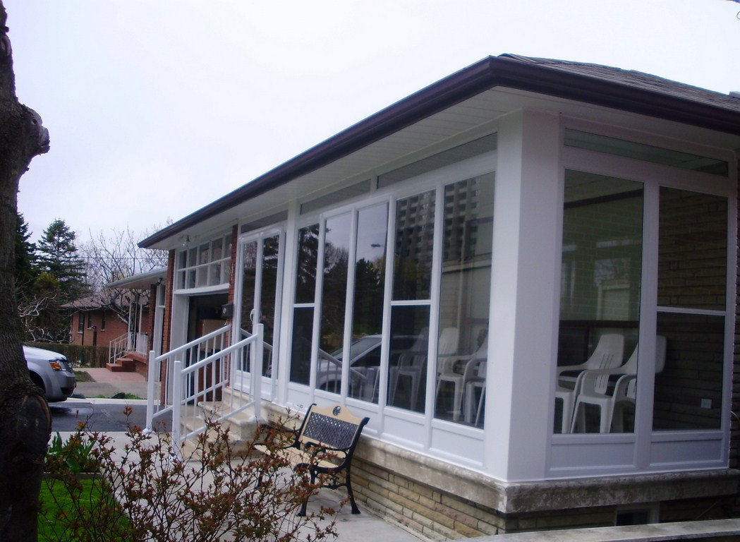 Gallery Porch Enclosures White Aluminum